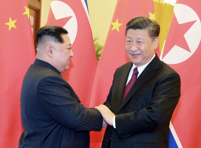 Kyodo: Cuoc gap Trump - Kim nguy co do be la do Trung Quoc hinh anh 1