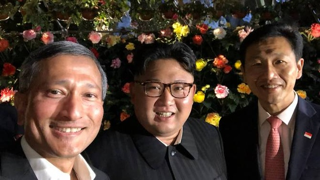Kim Jong Un roi khach san de kham pha Singapore ve dem hinh anh