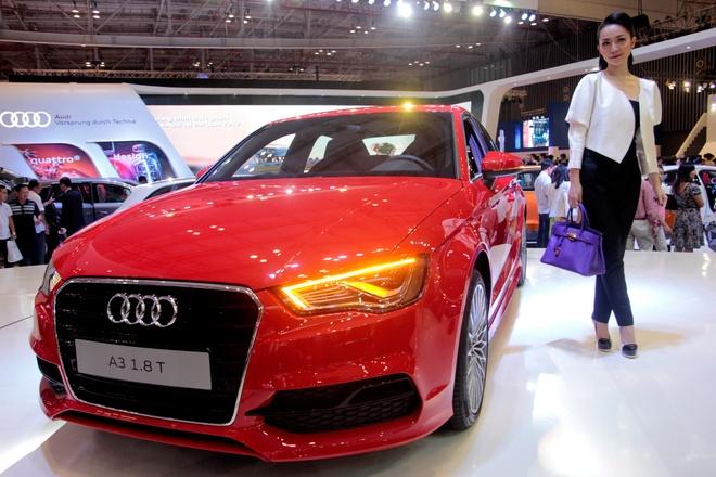 Nghe si mua Linh Nga dieu da ben Audi A3 2014 hinh anh 2