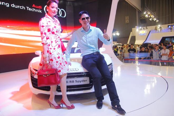 Binh Minh, Truong Ngoc Anh thu tieng po sieu xe Audi R8 hinh anh 5