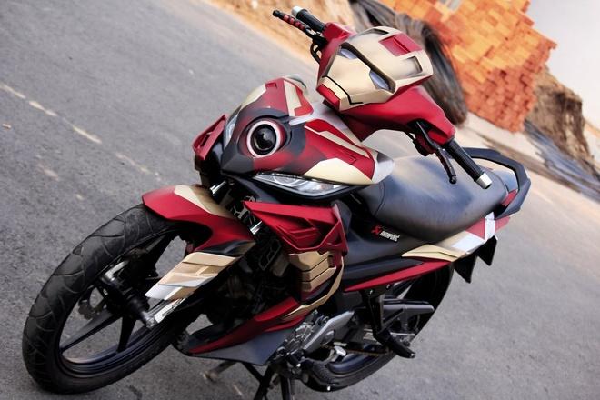 Yamaha Exciter do phong cach Iron Man hinh anh 3