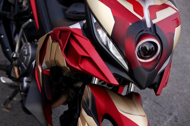 Yamaha Exciter do phong cach Iron Man hinh anh 5