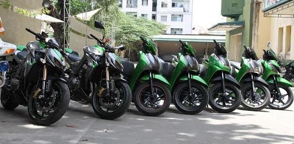 5 chiec SH cung mau voi bo doi Kawasaki Z1000 o Sai Gon hinh anh