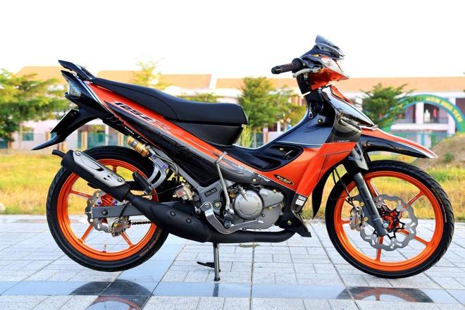 Xe hai thi Yamaha Z do sac cam cua biker An Giang hinh anh