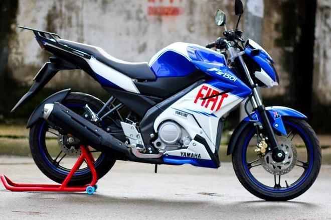 Yamaha FZ150i son mau xanh GP cua biker Sai Gon hinh anh