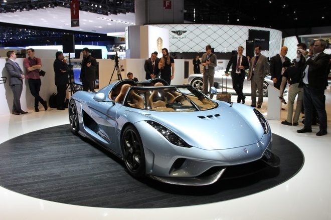 10 mau xe dang chu y tai Geneva Motor Show 2015 hinh anh 10 1. Koenigsegg Regera   Finally, how can the Koenigsegg Regera fit anywhere on this list but number one? The latest from Sweden's notorious boutique exotic car builder makes an other-worldy 1,489 hp, 1,475 lb-ft of torque and can hit 250 MPH in under 20 seconds. Swede heavens that sounds dangerous.  Sadly, that's all we have space for, folks. Actually that's a filthy lie. This is the Internet where print space has less meaning than democracy in Russia. But wait! It's only a fraction of what happened in here in Switzerland this week so head on over to AutoGuide to scroll through our comprehensive show coverage.
