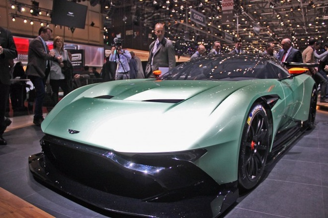 10 mau xe dang chu y tai Geneva Motor Show 2015 hinh anh 4 7. 2016 Aston Martin Vulcan   Is spending 1.5 million Brit pounds on a track-only sports car logical? Sadly, Leonard Nimoy is gone so we may never know. But at least Aston Martin promises that the 7.0-liter V12 in this car churns out more than 800 HP. Apart from that, it comes with wheels wrapped in racing rubber, a six-speed sequential gearbox and some of the most polarizing tail lights of all time.