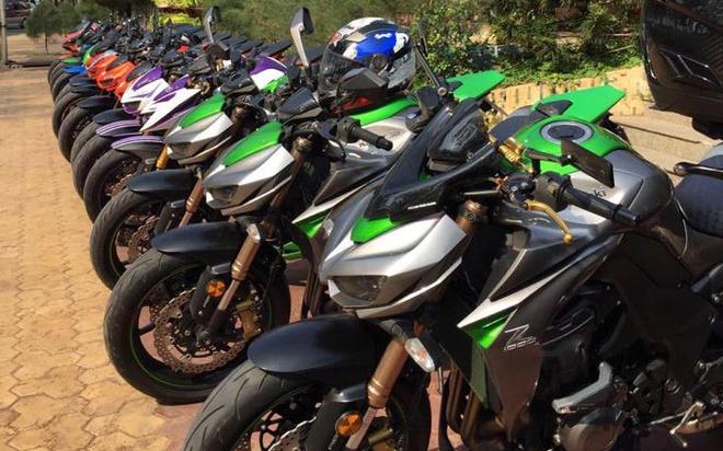 Dan moto Kawasaki Z1000 tu hoi o Phan Thiet hinh anh