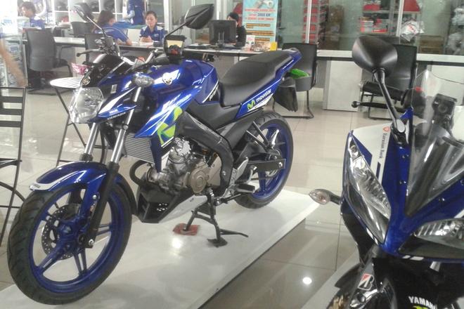 Anh chi tiet Yamaha V-Ixion mau xanh MotoGP 2015 hinh anh