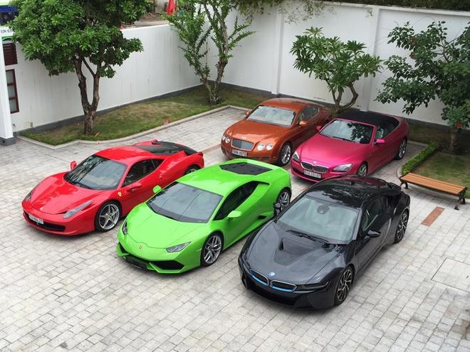 Garage voi dan sieu xe, xe sang o Sai Gon hinh anh