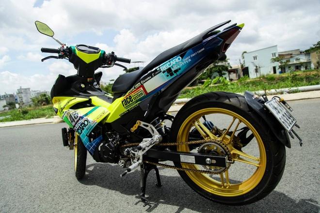 Exciter 150 mau doc cua biker Sai Gon hinh anh