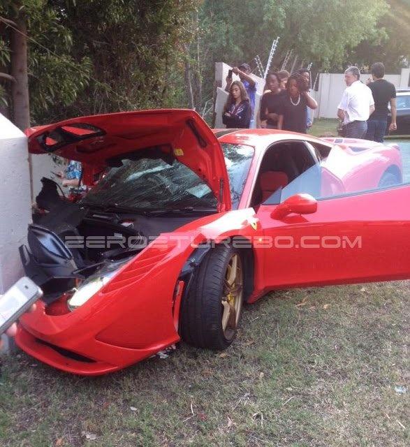 Ferrari 458 Speciale dam tuong rao o Nam Phi hinh anh