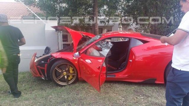 Ferrari 458 Speciale dam tuong rao o Nam Phi hinh anh 3
