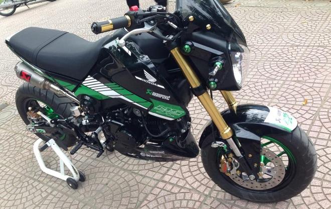 Honda MSX 125 len do choi hang hieu cua nu biker Ha Noi hinh anh 2