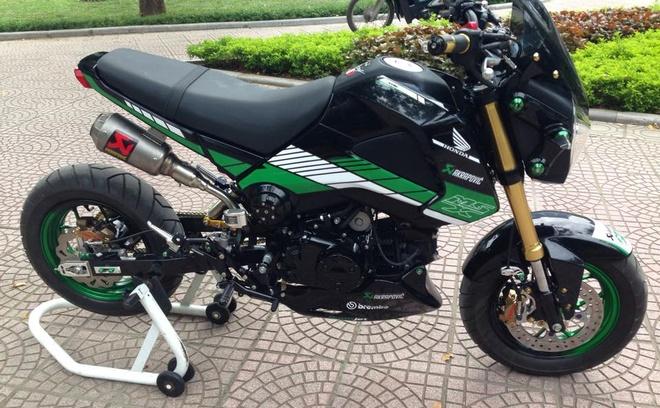 Honda MSX 125 len do choi hang hieu cua nu biker Ha Noi hinh anh 1