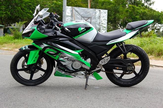 Yamaha R15 do phong cach moto phan khoi lon o Kien Giang hinh anh