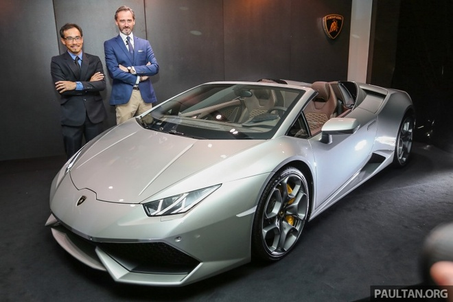 Lamborghini Huracan mui tran den Malaysia hinh anh