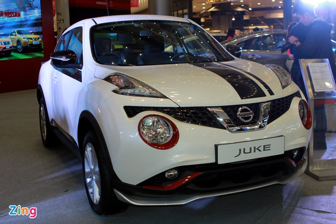 Nissan Juke gan loat phu kien the thao o Ha Noi hinh anh 1