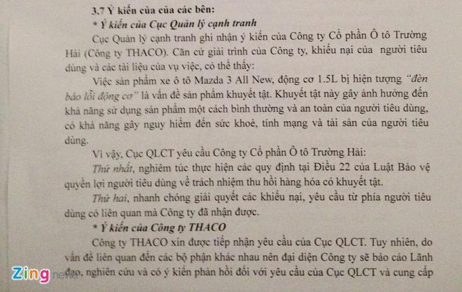 Cuc Quan ly canh tranh de nghi Truong Hai trieu hoi Mazda 3 hinh anh 1