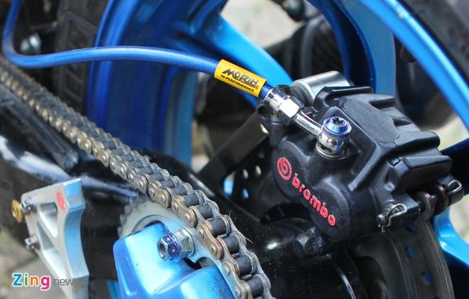Suzuki Raider len do choi hang hieu cua biker Ha thanh hinh anh 8