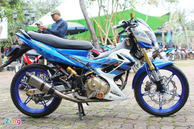 Suzuki Raider gan 100 trieu tien do choi tai Ha Noi hinh anh 1