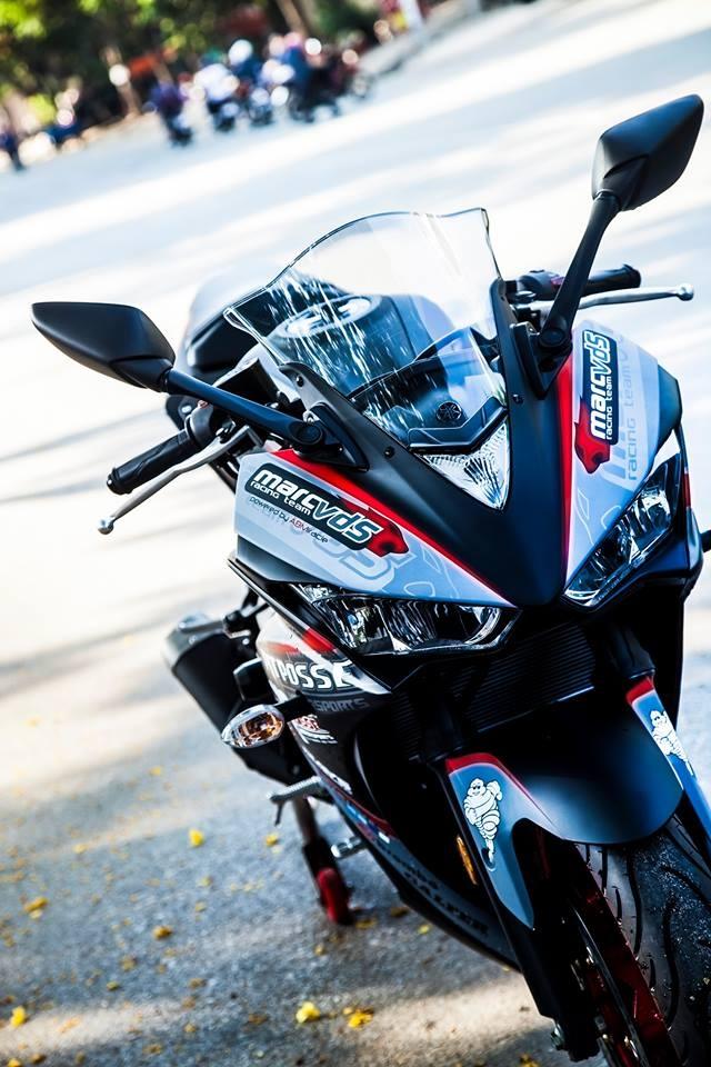 Yamaha R3 son phoi mau cung cap cua biker Vinh Long hinh anh 5