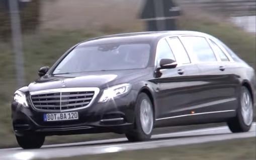 Mercedes-Maybach S600 Pullman 2016 xuat hien tren pho hinh anh