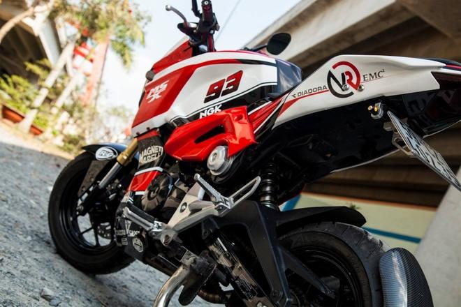 Honda MSX 125 do dan ao the thao cua biker Sai Gon hinh anh 2