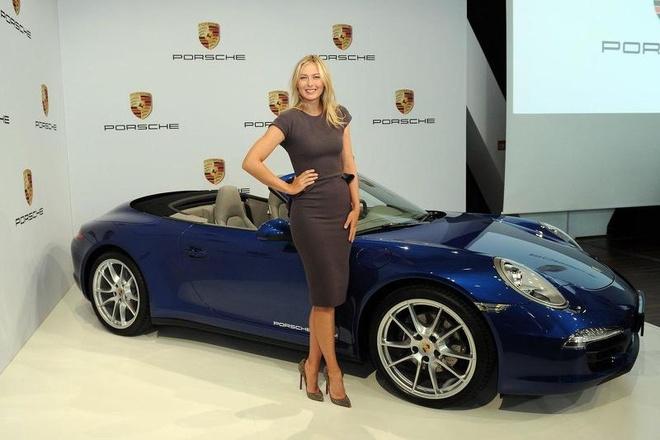 Porsche dung hop tac voi Maria Sharapova hinh anh