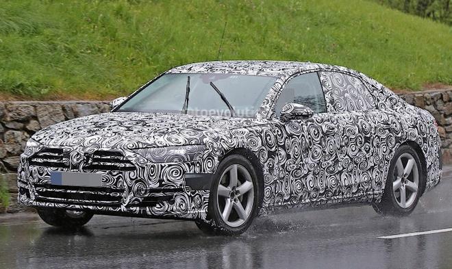 Audi A8 2017 lan dau lo anh chay thu hinh anh