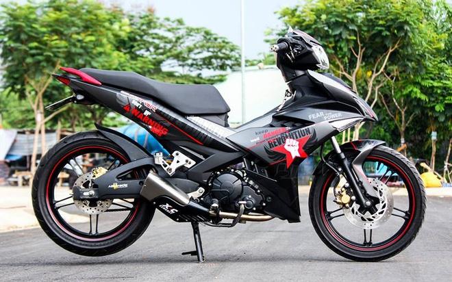 Exciter 150 mau xam nam tinh cua biker Phu Yen hinh anh
