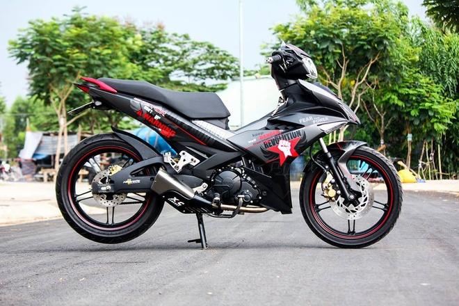Exciter 150 mau xam nam tinh cua biker Phu Yen hinh anh 1
