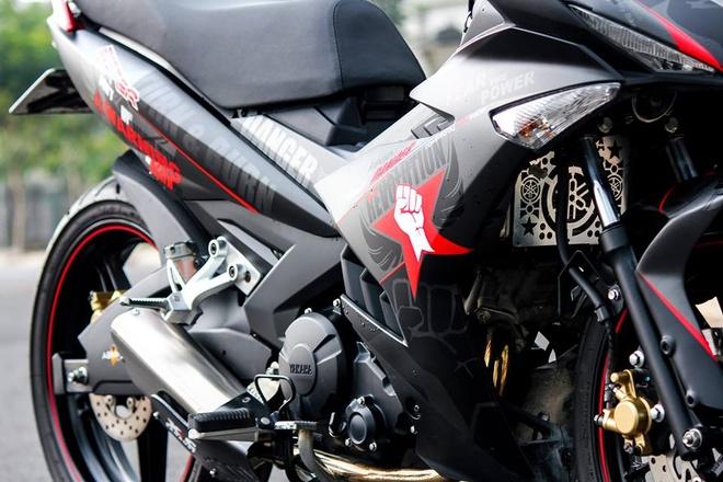 Exciter 150 mau xam nam tinh cua biker Phu Yen hinh anh 3