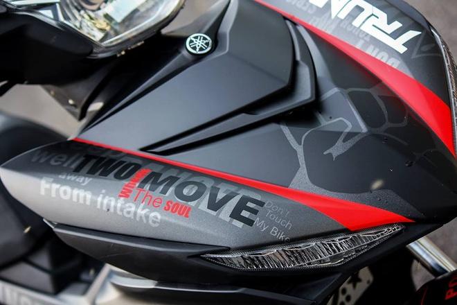 Exciter 150 mau xam nam tinh cua biker Phu Yen hinh anh 4