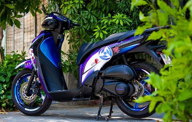 Honda SH 2010 do dan vo phong cach phim hoat hinh hinh anh