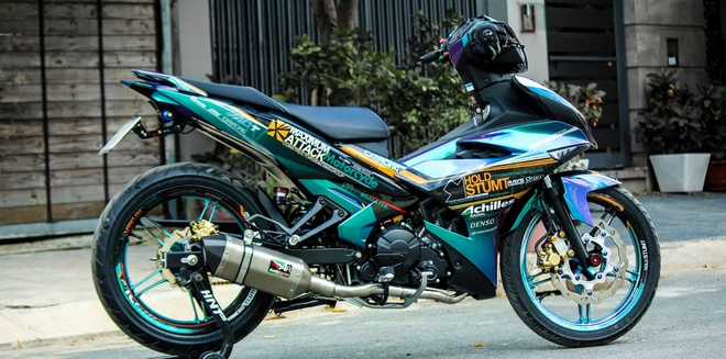 Exciter 150 mau doc cua biker Tien Giang hinh anh 1