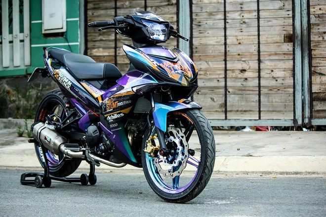 Exciter 150 mau doc cua biker Tien Giang hinh anh 2