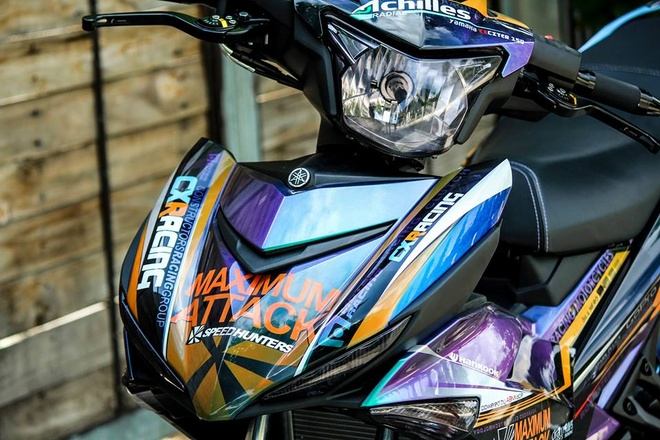 Exciter 150 mau doc cua biker Tien Giang hinh anh 5