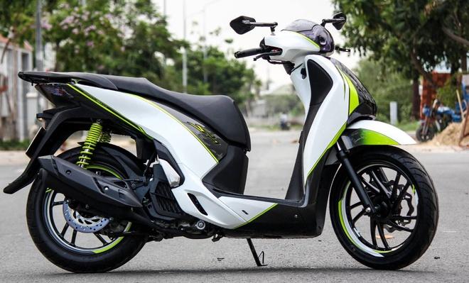 Honda SH 125i son phoi mau tre trung cua biker Sai Gon hinh anh