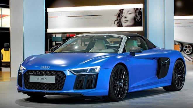 Audi R8 V10 mui tran mau doc hinh anh 1