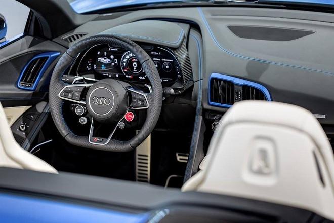 Audi R8 V10 mui tran mau doc hinh anh 5