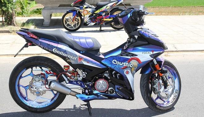 Exciter 150 son chuyen mau va len do choi cua biker Phu Yen hinh anh 1