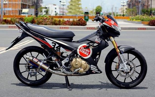 Suzuki Raider nhap Thai do tem xe dua cua biker Sai Gon hinh anh