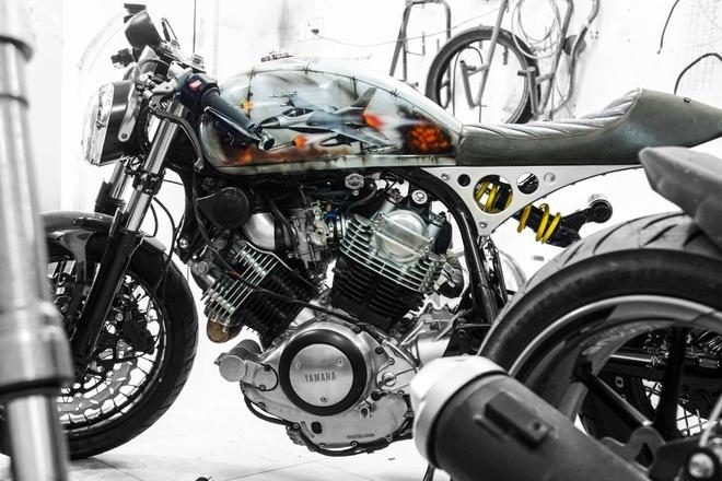 Yamaha XV750 do cafe racer cua biker Sai Gon hinh anh 3