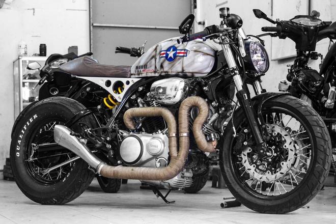 Yamaha XV750 do cafe racer cua biker Sai Gon hinh anh