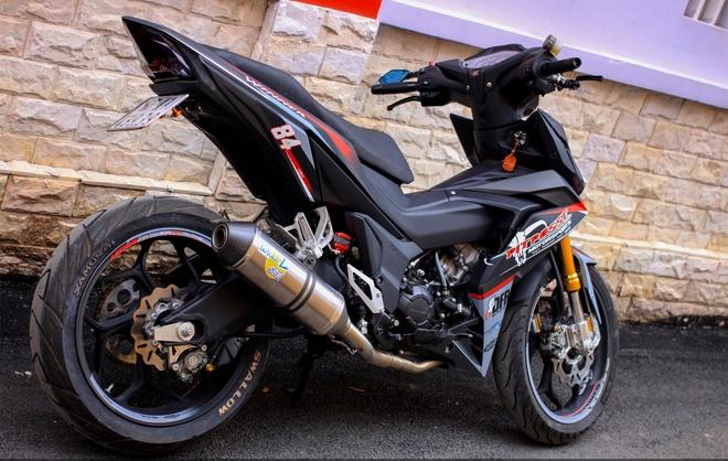 Honda Winner 150 do do choi hang hieu cua biker An Giang hinh anh