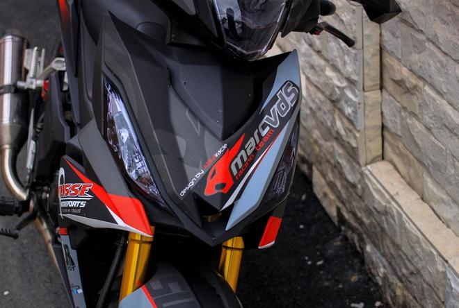 Honda Winner 150 do do choi hang hieu cua biker An Giang hinh anh 3