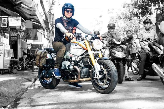 BMW R nineT son tem co Duc cua biker Sai Gon hinh anh 1