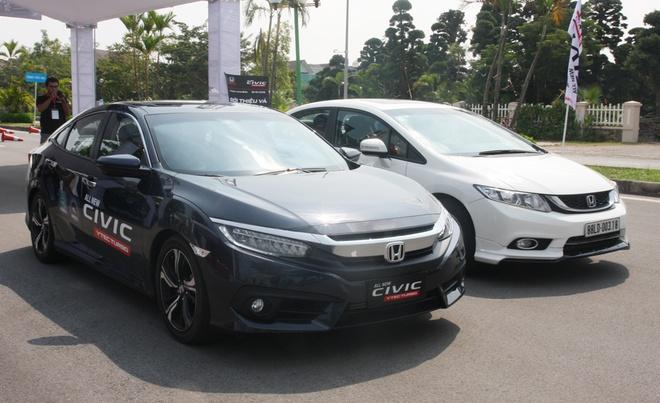 So sanh Honda Civic the he moi va cu o Viet Nam hinh anh