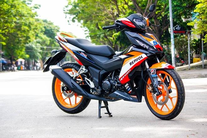 Honda Winner 150 son tem dau dan ao cua biker Bien Hoa hinh anh 2